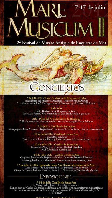 Roquetas de Mar - Mare Musicum - Conciertos 2012